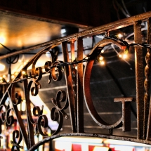 A decorative feature on the Barge